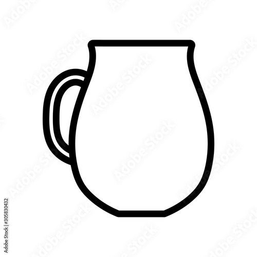 Fototapeta Isolated kitchen pitcher vector design obraz