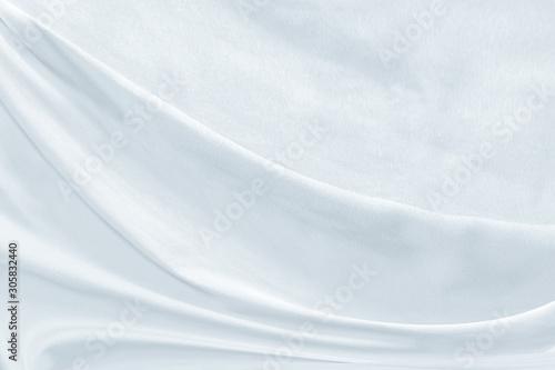 white fabric texture background ,wavy fabric Fototapet