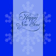 Winter background design. New Year theme, snowflakes, vector illustration, EPS10