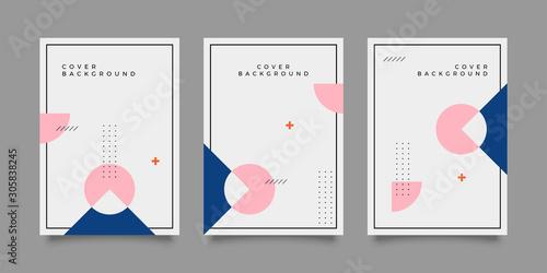 Stampa su Tela Covers with trendy minimal design