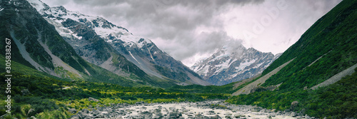 Photo Hooker Valley Track hiking trail, New Zealand