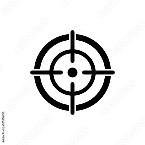target icon vector design symbol Canvas Print