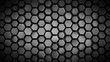canvas print picture Grey hexagonal background abstract 3D render