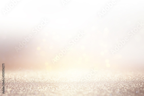 Fotobehang Vrouw gezicht abstract background of glitter vintage lights . silver, gold and white. de-focused