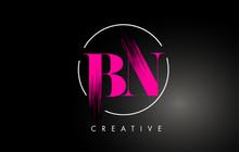 Pink BN Brush Stroke Letter Lo...