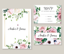 Dusty Pink Rose, Anemone, White Lilac, Eucalyptus, Greenery