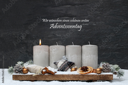 Poster Pays d Europe Erster Advent