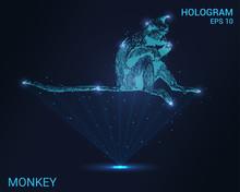 A Hologram Of A Monkey. Hologr...