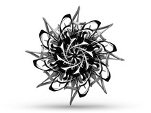 3d Render Of Abstract 3d Flowe...