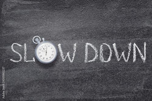 Fototapeta slow down watch