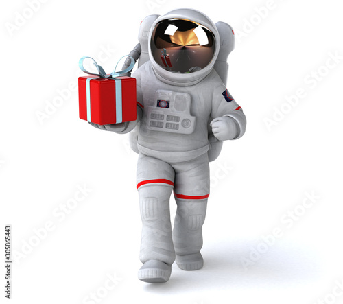 Fotografia Fun astronaut - 3D Illustration