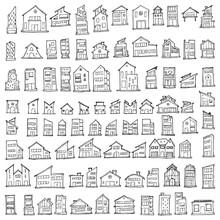 Set Of House Drawing Illustrat...