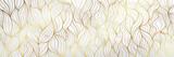 Luksusowy złoty marmurowy wzór z naturą kwiatowy wzór 17: 9 Tapeta w tle.