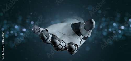 Spoed Foto op Canvas Europa View of a Robot Hand Cyborg - 3d rendering