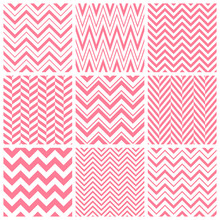 Vector Set Of Pink Chevron Sea...