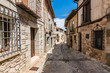 Medieval streets of Atienza and town hall in Guadalajara (Castilla La Mancha, Spain)
