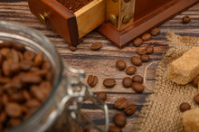 Coffee Beans In A Glass Jar, C...