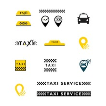 Taxi Vector Icon Illustration Design