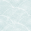 Seigaiha wave seamless pattern. Blue and white Japanese print. Grunge texture. Vintage striped background for textiles. Vector illustration.