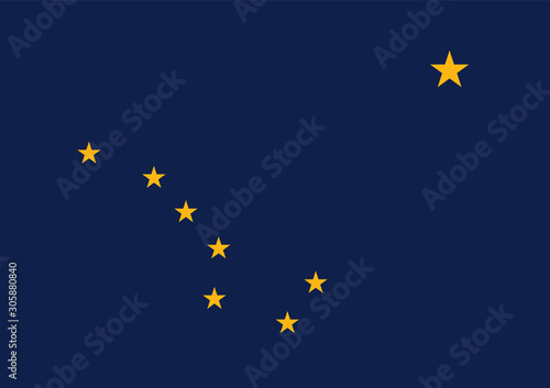 Fototapeta Alaska state flag. Simple flat vector stock illustration eps10 obraz