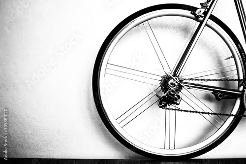 Recess Fitting Bicycle bicycle wheel isolated on white background
