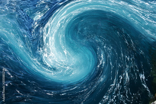 yin yang symbol, Abstract photography with wave effect, art  digital, abstract,