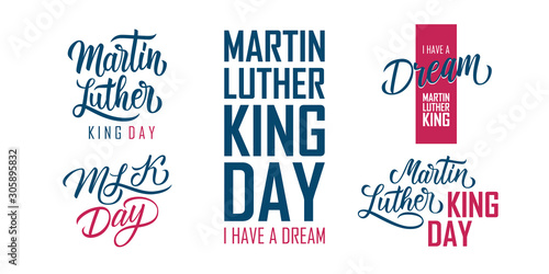 Fotomural Martin Luther King Day lettering set