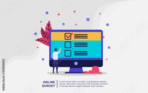 Vászonkép Illustration concept of online support