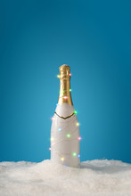 Champagne Bottle With Christma...