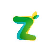 Z Letter Eco Logo. Overlapping...