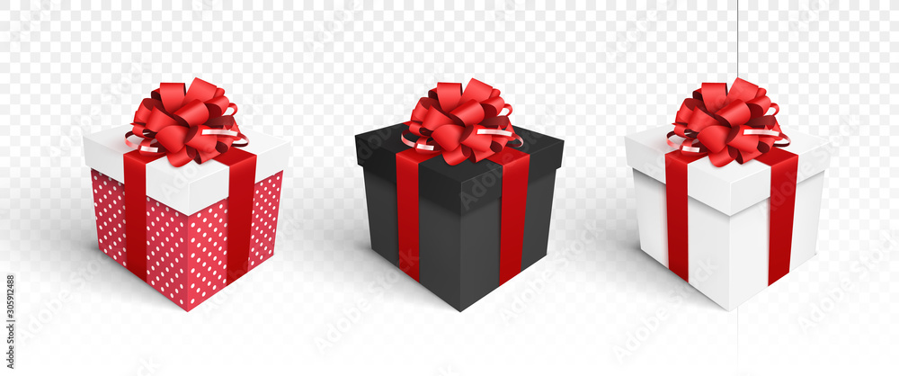 Fototapeta Gift boxes isolated on white