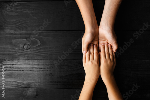 arms stretches out and holds one another Canvas Print