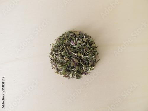 Obraz Dried shepherds purse herbs for herbal tea - fototapety do salonu