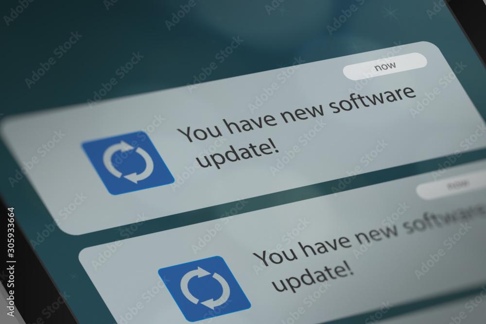 Fototapeta Software Update Notification on Smart Phone