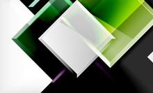 Bright Colorful Square Shape B...