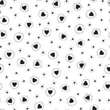 Tiny Hearts Seamless Pattern. ...