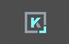 Grey Letter K Alphabet Logo De...