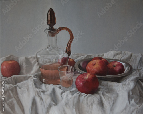 naturaleza muerta con jarra Canvas Print