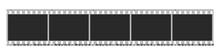 Five Photo Camera Blank Frames...