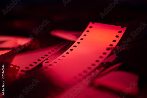 Pellicule photo de très près - rouge Canvas Print