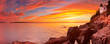 canvas print picture - Bass Harbor Head Lighthouse, Acadia NP, Maine, USA at sunset