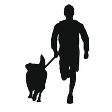 The Dog And His Master Silhoue...