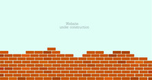 Website Is Under Construction Text And Brick Background.