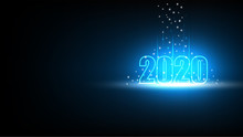 Happy New Year 2020 With Techn...