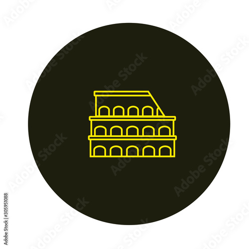 rome colosseum vector icon with simple lines Fototapete