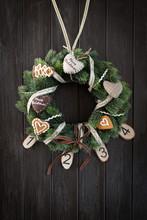 Christmas Advent Door Wreath O...