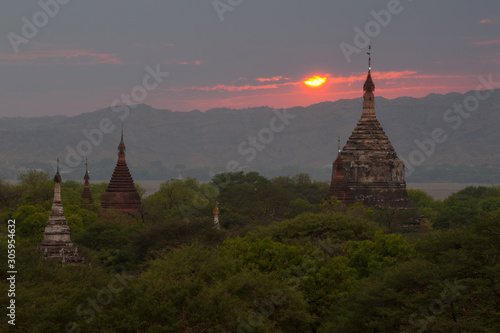 Bagan , Myanmar Canvas Print