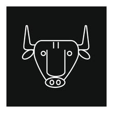 Spanish Bull Head Icon Vector