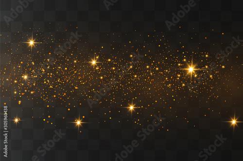 Obraz Gold sparks, stars - fototapety do salonu