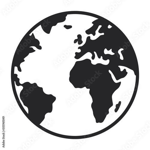 Obraz Globe icon - fototapety do salonu